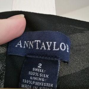 Ann Taylor Dresses - 100% SILK Ann Taylor black-white dress